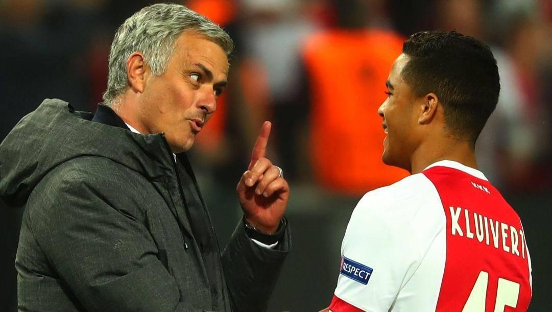 Mourinho e Justin Kluivert