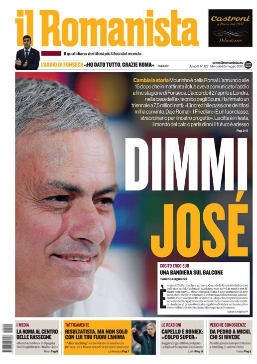 Sul Romanista la citazione 'Dimmi José'