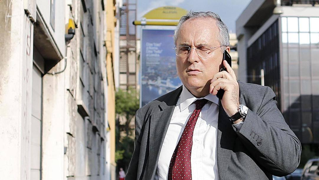 Claudio Lotito, 63 anni. Ansa
