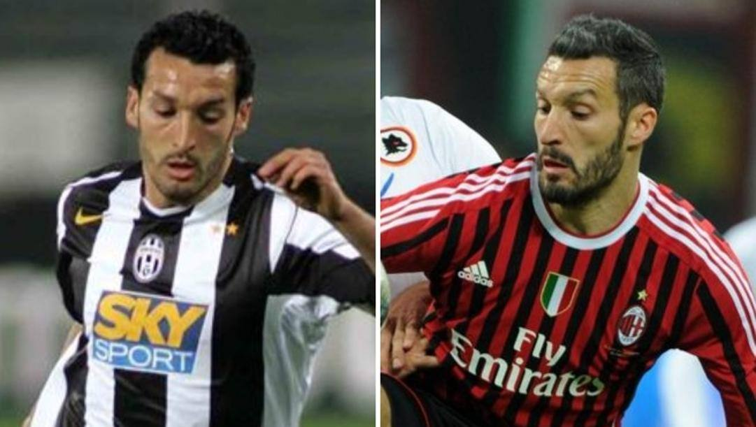 Gianluca Zambrotta in maglia Juve e Milan