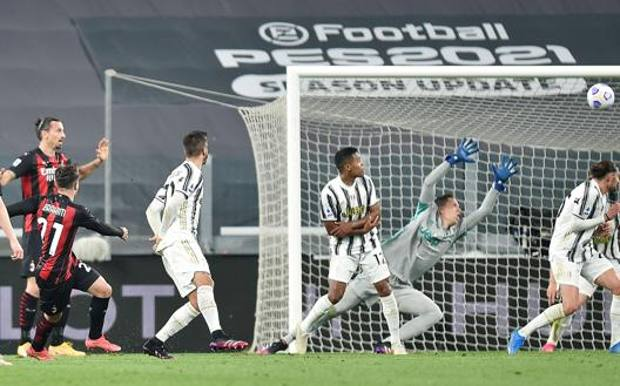 Il primo gol rossonero di Brahim Diaz. Ansa