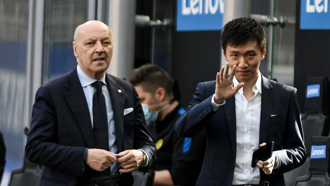 Steven Zhang con Beppe Marotta. LaPresse