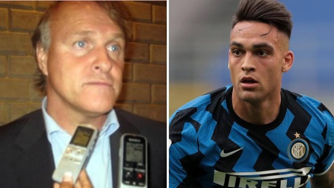 """Alejandro Camano della """"FootFeel & Echo Sports"""" e Lautaro Martinez (23 anni), attaccante dell'Inter e della nazionale argentina. GETTY IMAGES"""