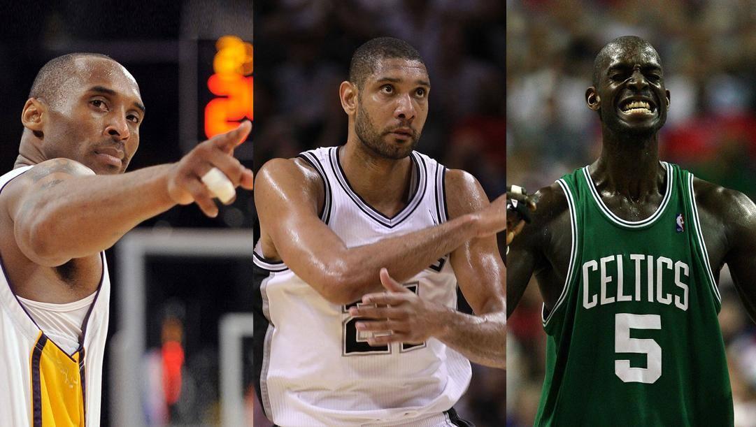 Kobe Bryant, Tim Duncan, Kevin Garnett: sono le tre stelle della classe 2020 della Hall of Fame