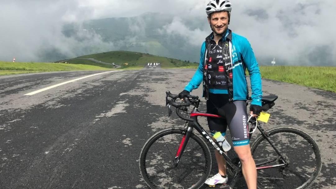 Martin Jorgensen in sella alla sua bici