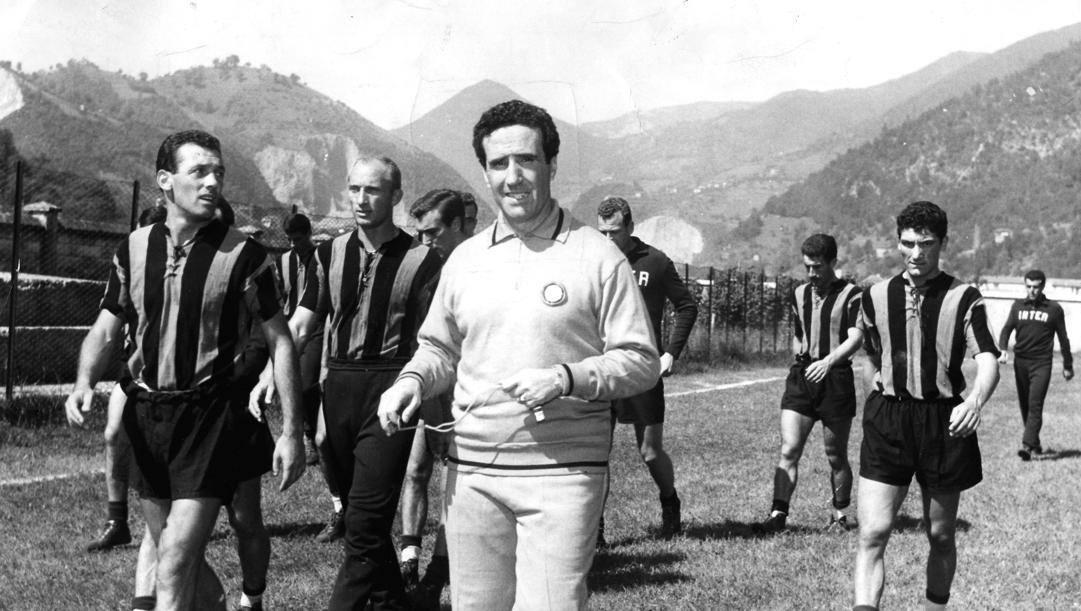Helenio Herrera ai tempi dell'Inter