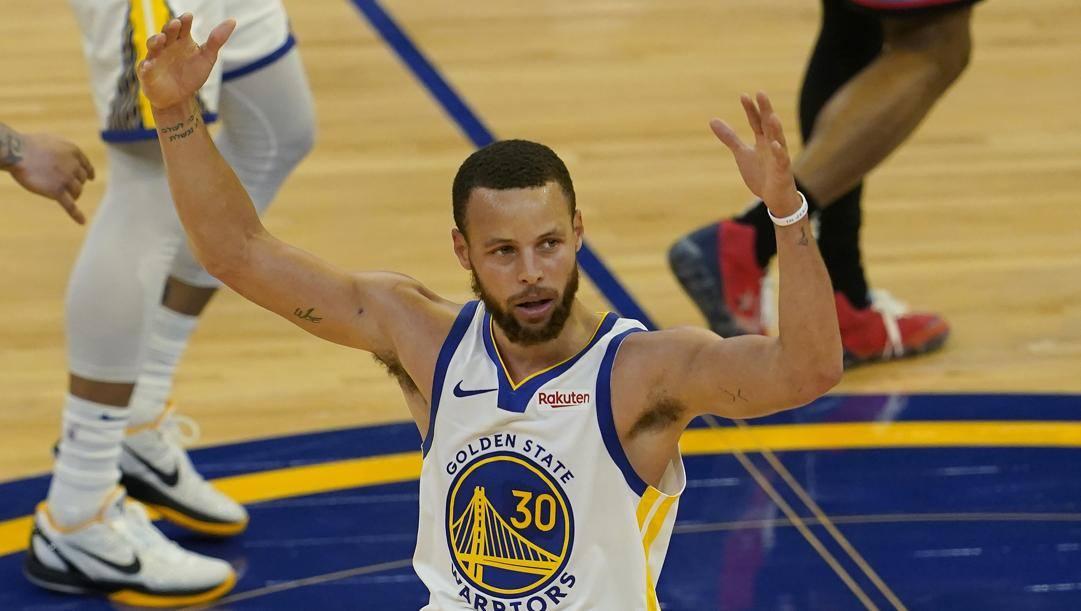 Steph Curry, 33 anni, miglior realizzatore del 2020-21. Ap