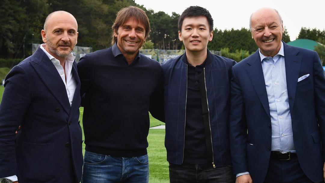 Ausilio, Conte, Zhang e Marotta. Getty
