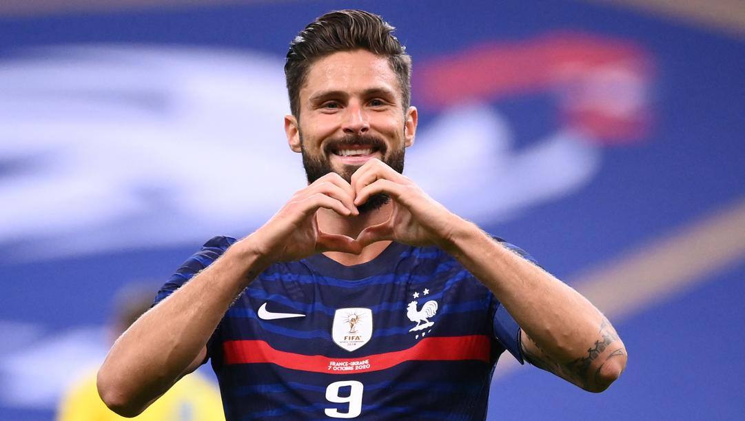 Olivier Giroud, 34 anni. Afp
