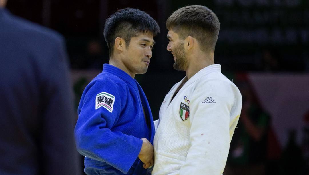 Joshiro Maruyama e Manuel Lombardo al termine della finale mondiale