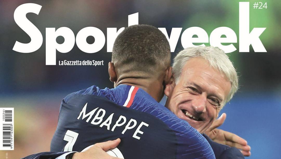 La copertina del nuovo numero di Sportweek in edicola domani con La Gazzetta dello Sport
