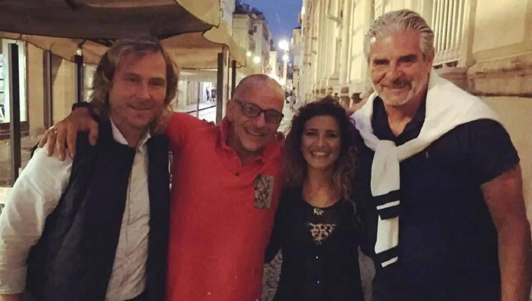 La cena di martedì tra Pavel Nedved, a sinistra, e Maurizio Arrivabene, a destra