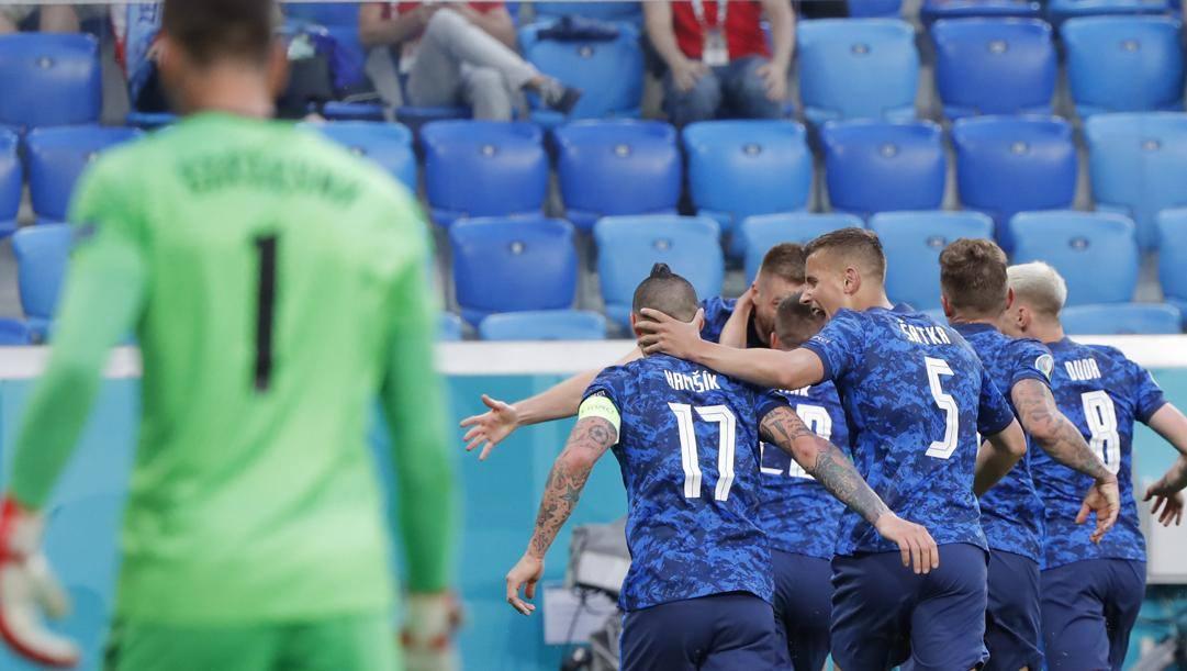 Il gol decisivo di Milan Skriniar, 26 anni. Lapresse