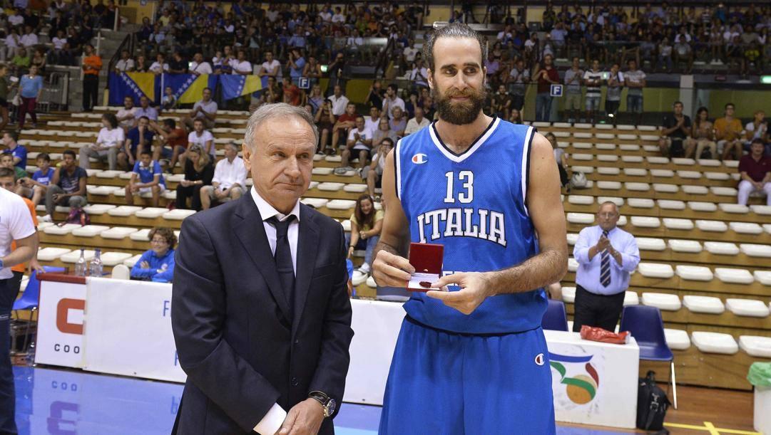 Gianni Petrucci con Gigi Datome. Ciam/Cast