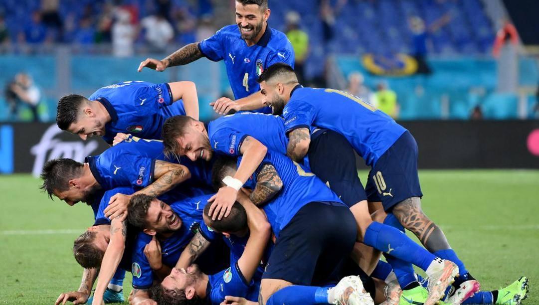 Felicità azzurra contro la Svizzera. Lapresse