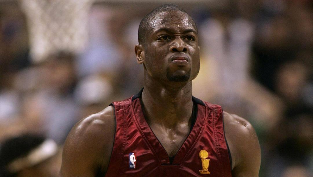 Dwyane Wade durante le Finals 2006: gli Heat le vinsero 4-2, dopo aver perso le prime due partite a Dallas. Afp