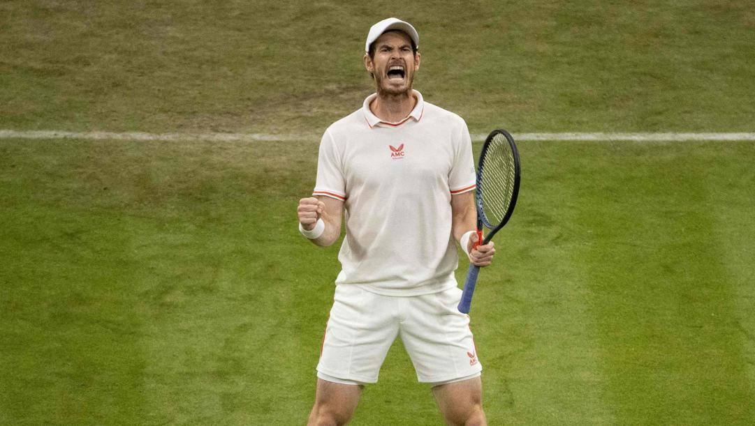 L'urlo liberatorio di Andy Murray. Afp