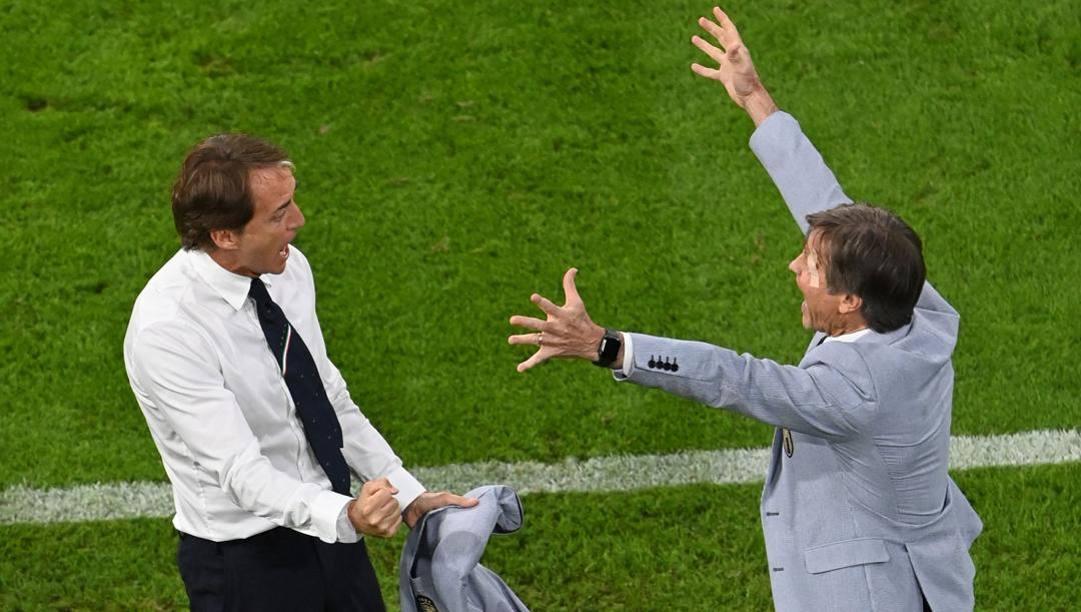 L'esultanza di Roberto Mancini. Getty Images