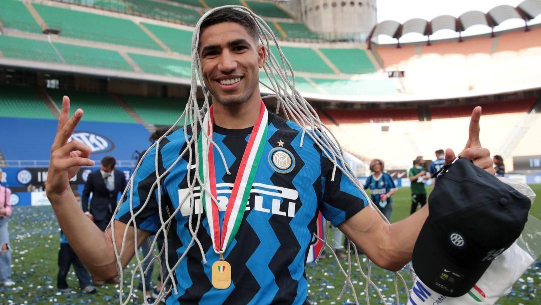 Achraf Hakimi (22 anni), ormai ex esterno dell'Inter e nuovo acquisto del Paris Saint-Germain. GETTY