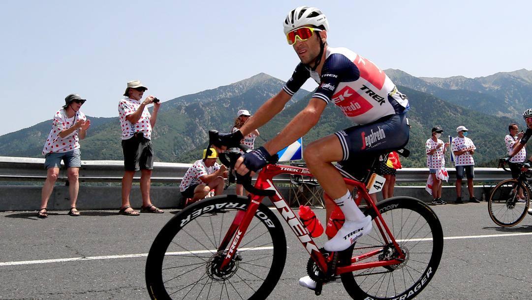 Vincenzo Ni bali, 36 anni, in azione al Tour. Bettini