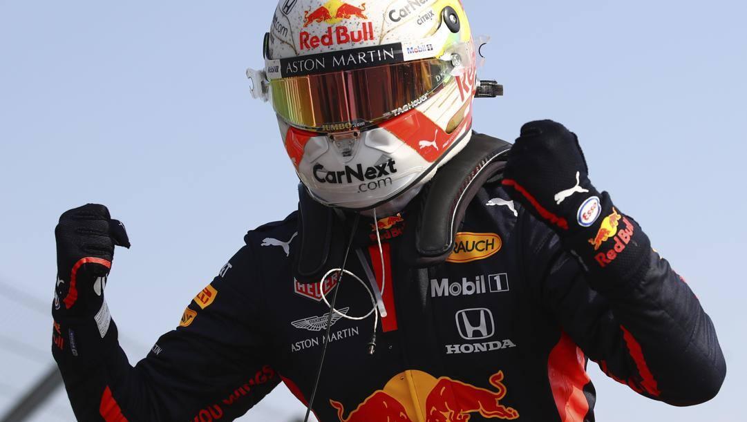 Max Verstappen dopo il successo dello scorso anno. LaPresse