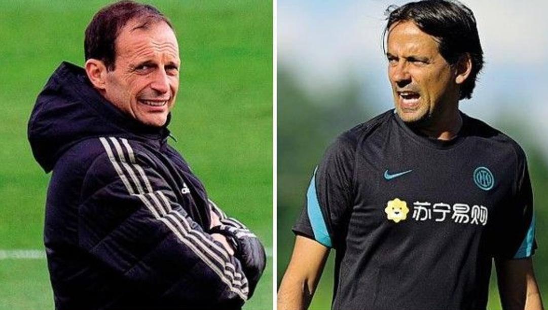 Massimiliano Allegri e Simone Inzaghi