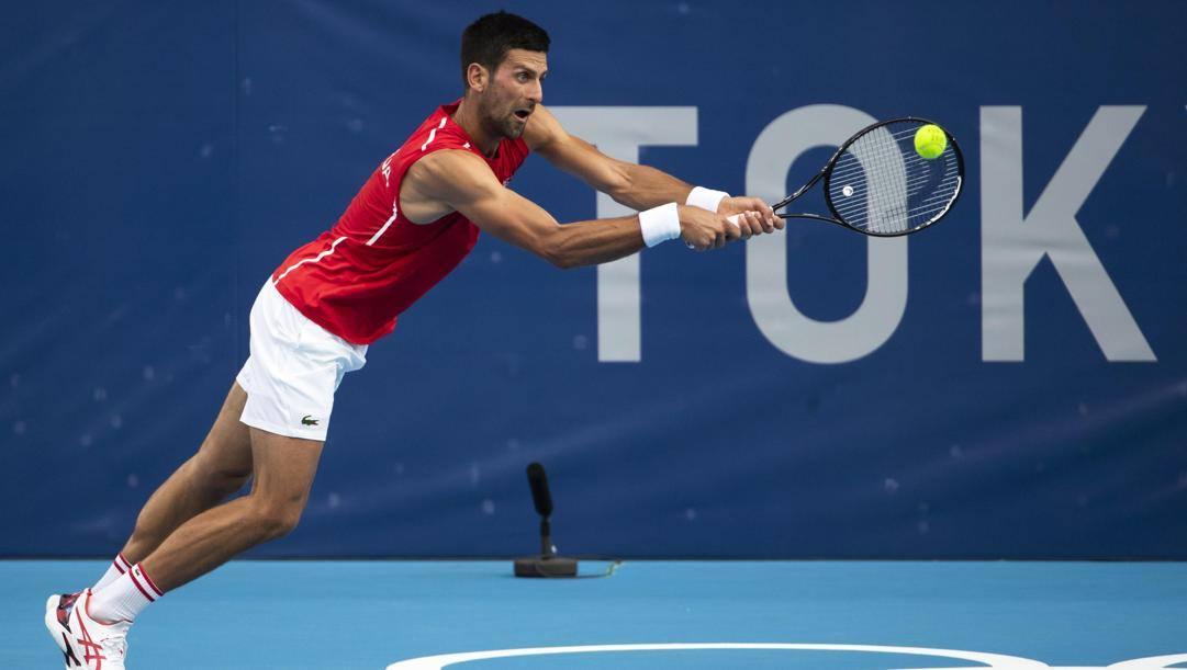 Novak Djokovic, 34 anni, è alla quarta Olimpiade. Epa