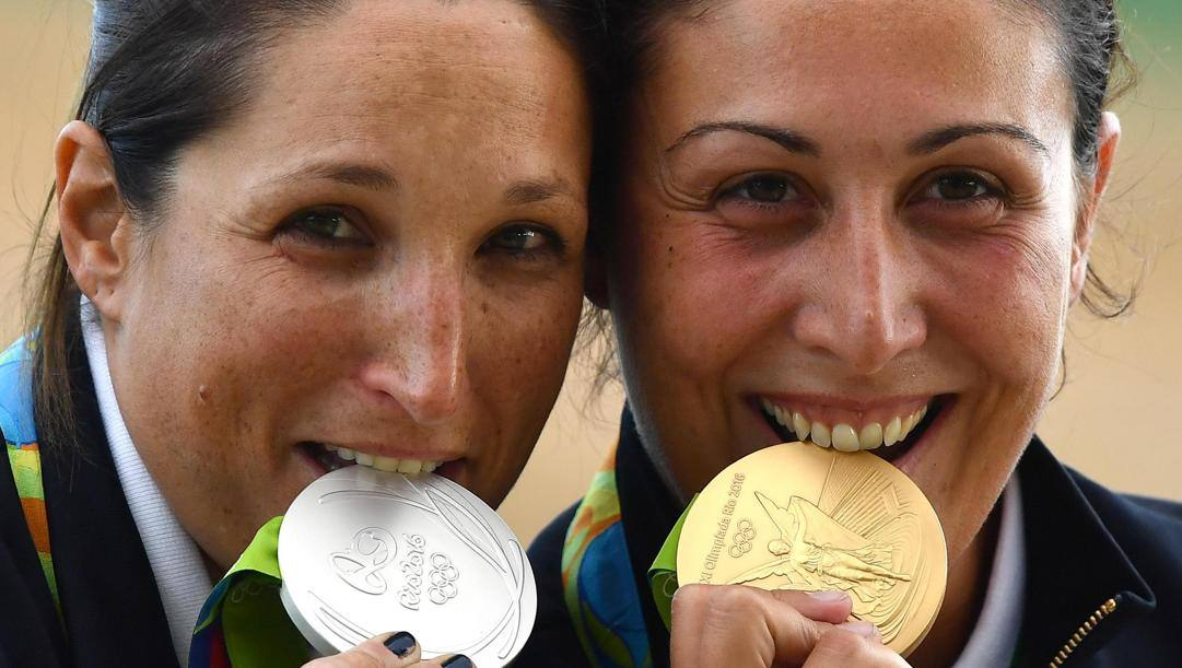 Chiara Cainero e Diana Bacosi a Rio 2016. Ansa