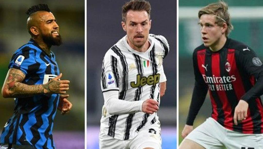 Da sinistra: Vidal, Ramsey e Hauge.