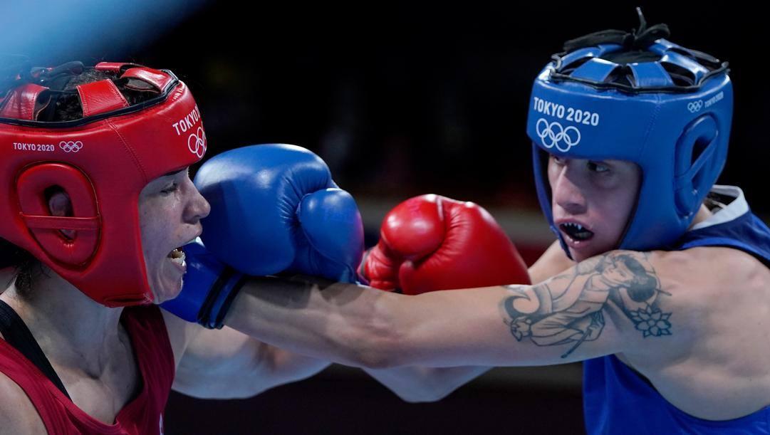 Irma Testa in blu durante la semifinale olimpica (GETTY)