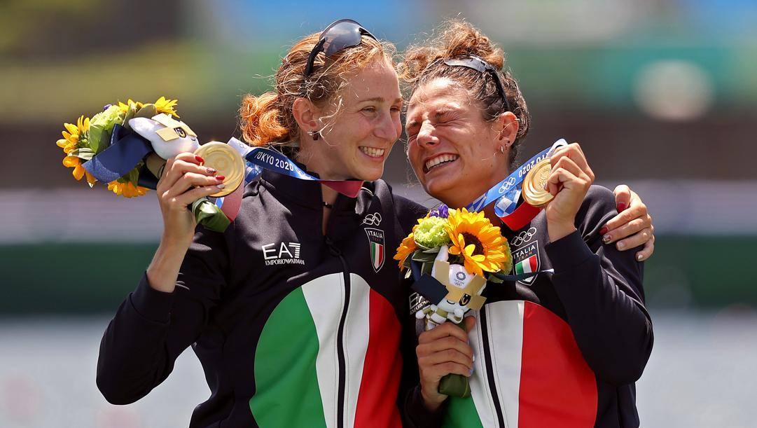 Valentina Rodini e Federica Cesarini sul podio. Getty