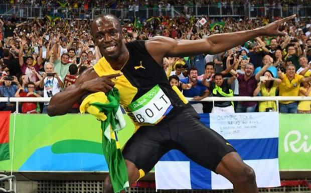 Usain Bolt, 34 anni, ai Giochi di Rio. Afp