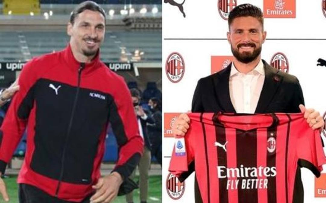 Zlatan Ibrahimovic, 39 anni, e Olivier Giroud, 34
