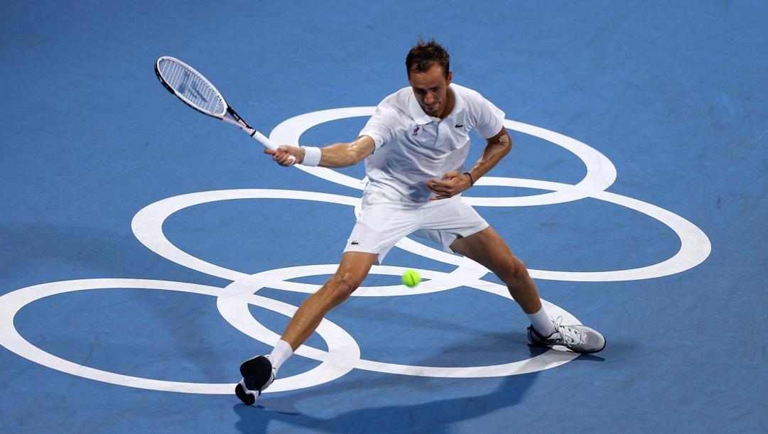 Daniil Medvedev è uno di quelli che gioco col simbolo Roc. Getty