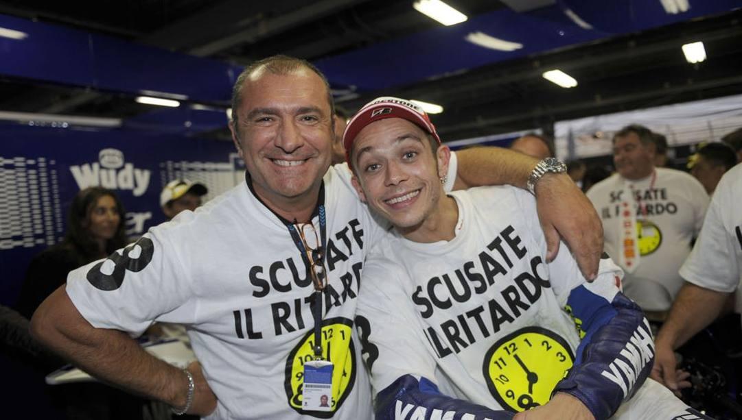 Aldo Drudi con Valentino Rossi. Milagro