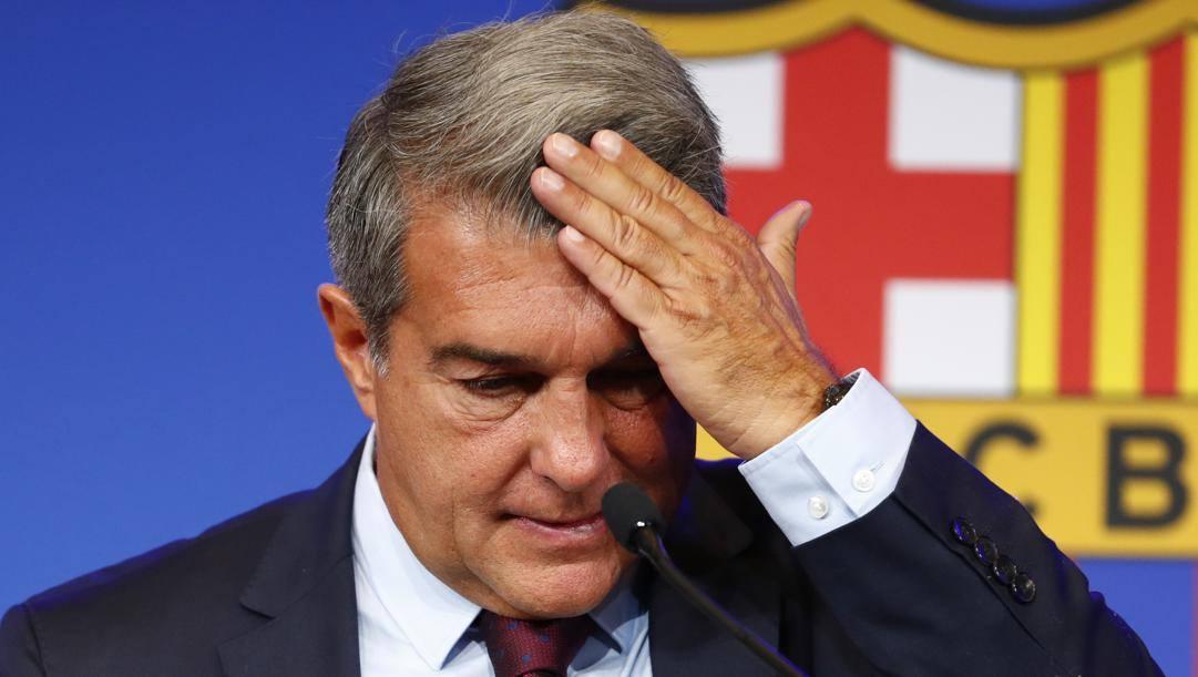 Joan Laporta, 59 anni, presidente di un Barcellona indebitato. AP
