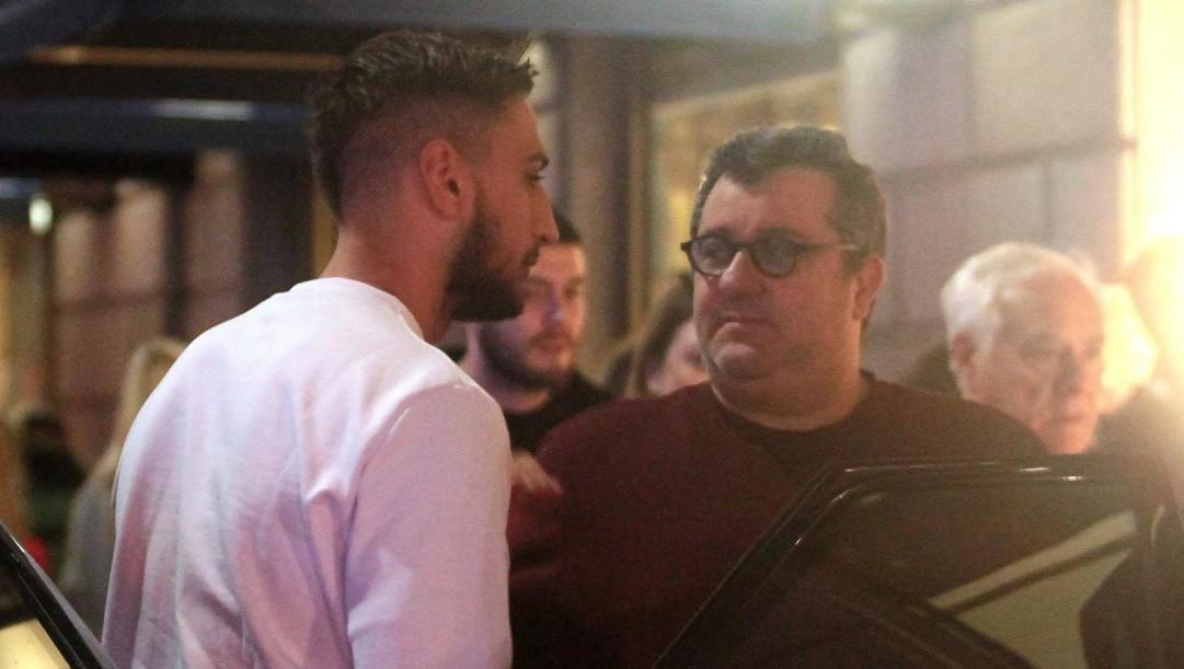 Gigio Donnarumma con il suo agente, Mino Raiola. Lapresse