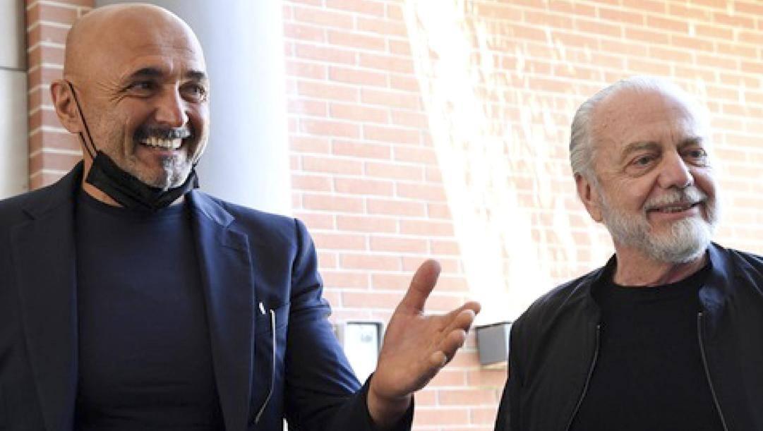 Luciano Spalletti e Aurelio De Laurentiis. Ansa