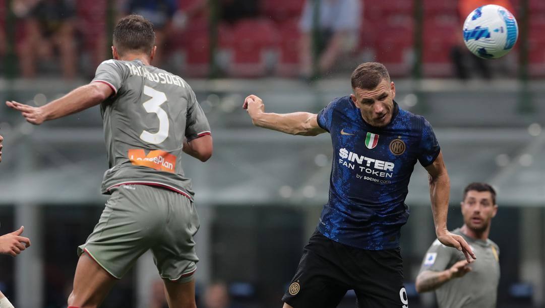Il gol di Dzeko al Genoa. Getty
