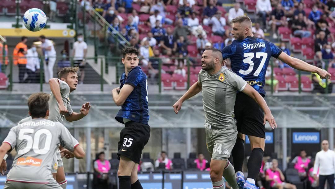 Il gol di Skriniar al Genoa. Ap