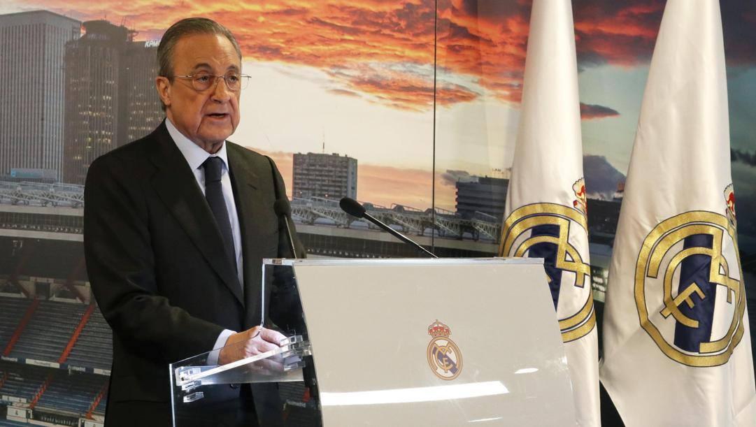 Florentino Perez, 74 anni, presidente del Real Madrid