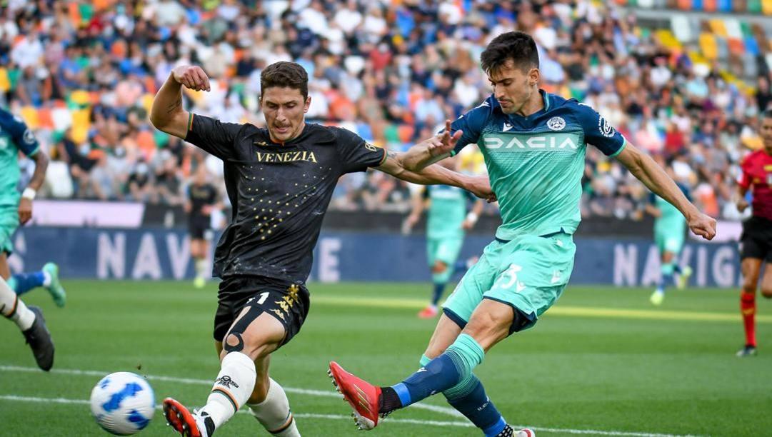 Ignacio Pussetto segna il gol dell'1-0. Ansa