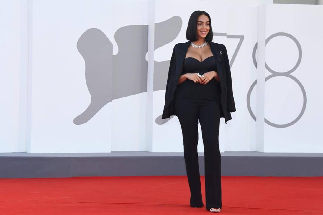 Georgina Rodriguez sul red carpet della 78esima edizione del Festival del Cinema di Venezia