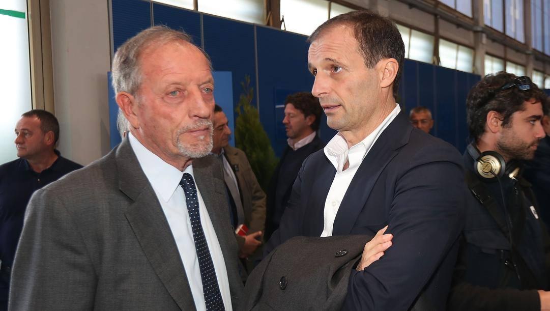 Renzo Uliveri con Massimiliano Allegri. Getty