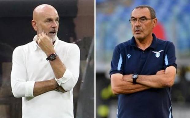 Stefano Pioli, 55 anni, e Maurizio Sarri, 62