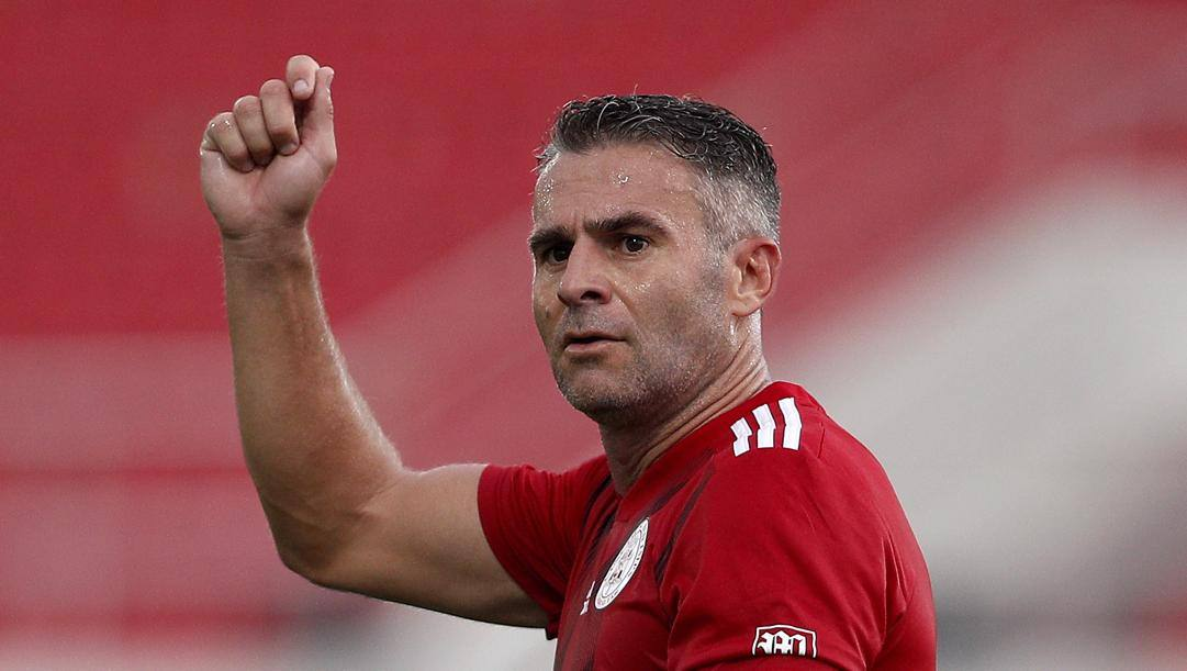 Lee Casciaro, 39 anni, attaccante della nazionale di Gibilterra e del Lincoln. Getty