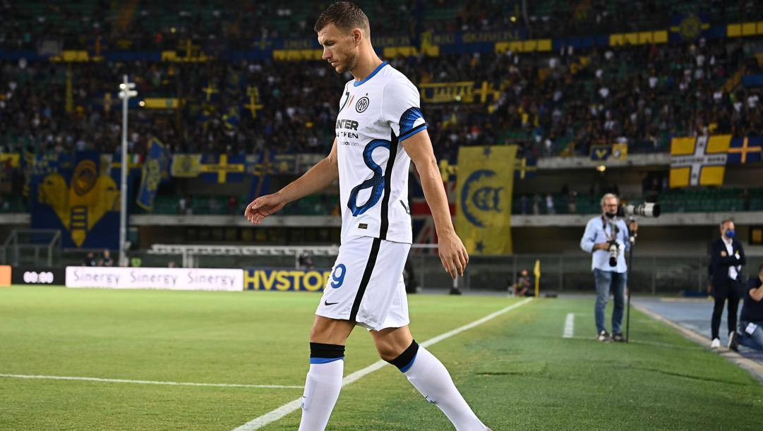Edin Dzeko, 35 anni, attaccante bosniaco dell'Inter. Getty Images