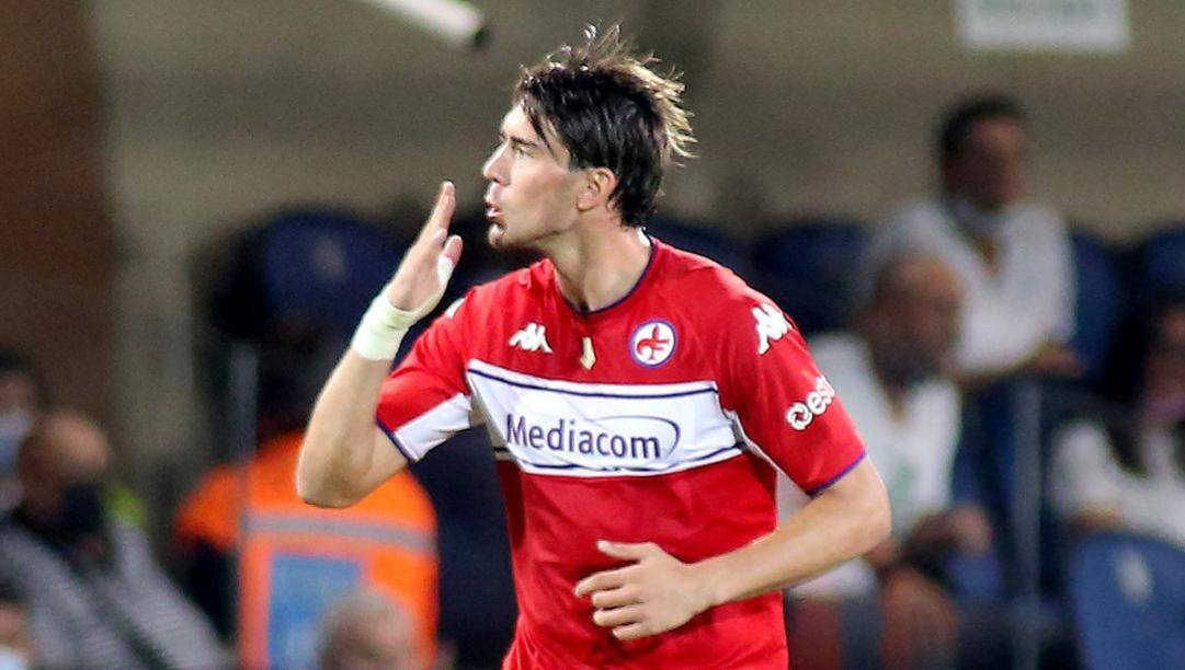 Dusan Vlahovic, 21 anni, due gol contro l'Atalanta. Kulta