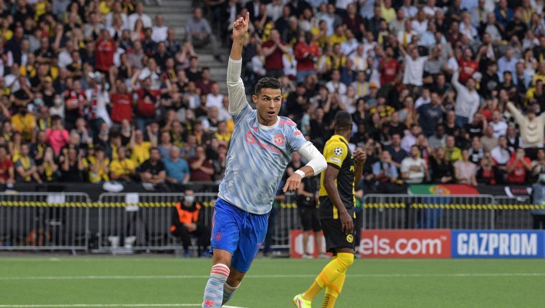 Cristiano Ronaldo, 36 anni, attaccante portoghese del Manchester United. Afp