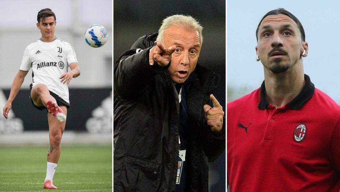 Paulo Dybala, Alberto Zaccheroni e Zlatan Ibrahimovic